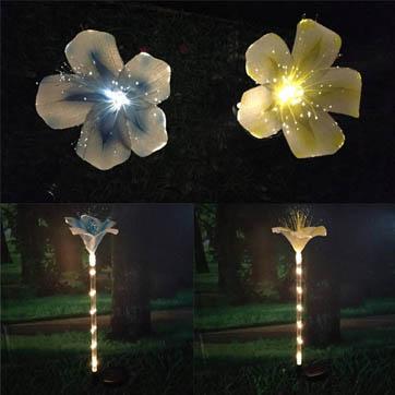 luz de decoración de flor de fibra óptica
